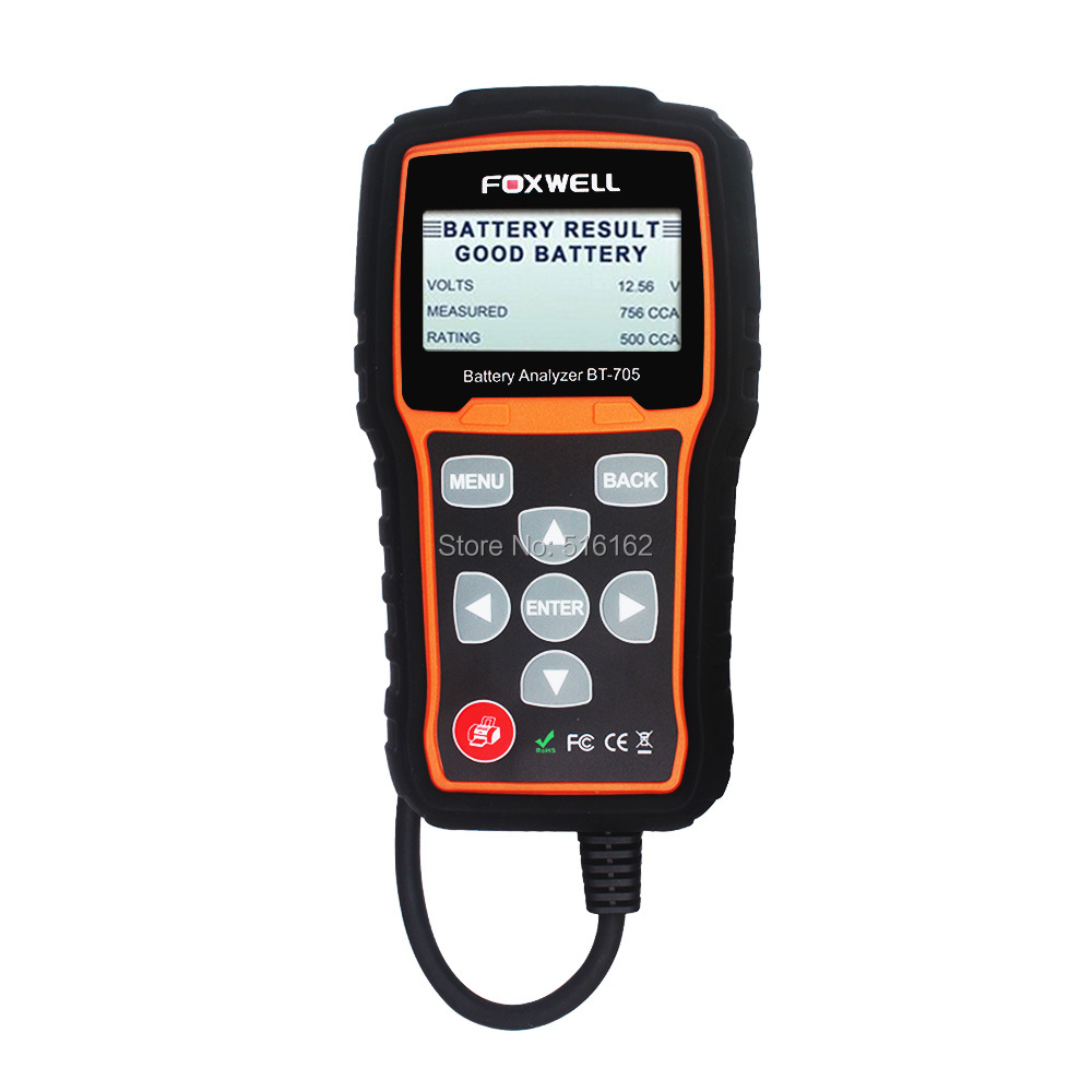 AGM Flat Plate Gel Batteries and 12V /& 24V Starting and Charging System FOXWELL Autool BT-705 Battery System Tester for 6V /& 12V Regular Flooded AGM Spiral