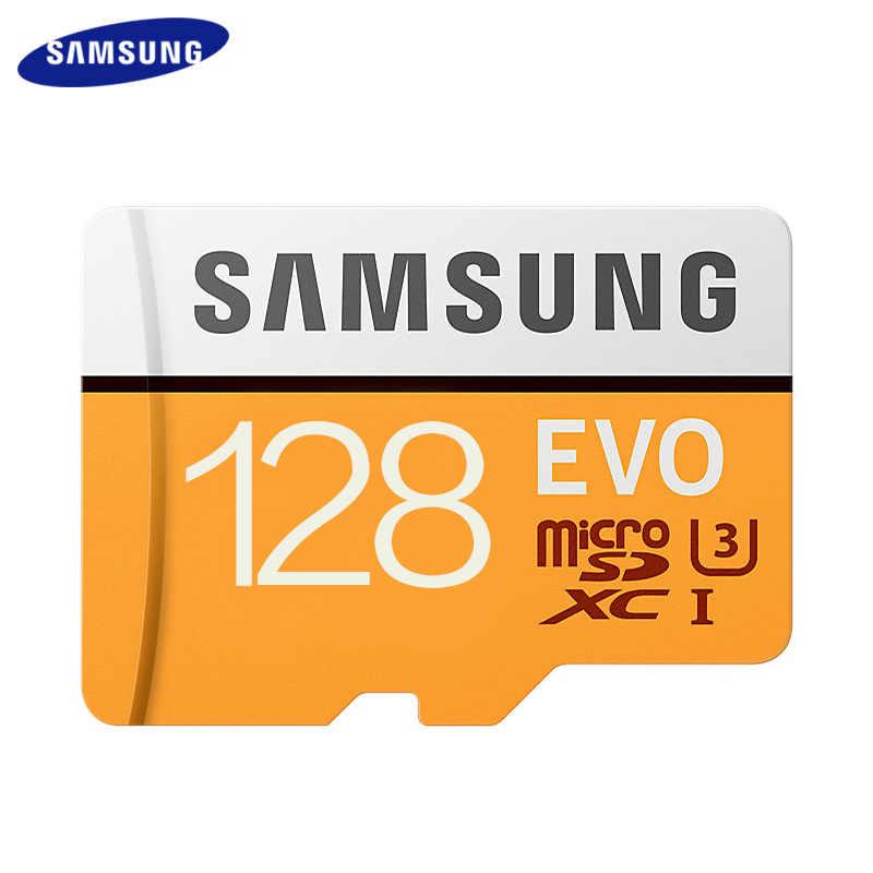 Оригинальная карта памяти SAMSUNG EVO 128 Гб 64 Гб C10 Micro SD 64 Гб 128 ГБ флеш-карты SDXC U3 Max 95 МБ/с./с TF карта транс флэш-карты памяти