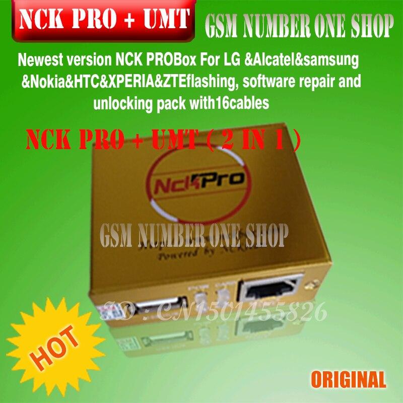 2019 le plus récent boîtier d'origine NCK Pro NCK Pro 2 (support NCK + UMT 2 en 1) pour Huawei + 16 câbles - 2