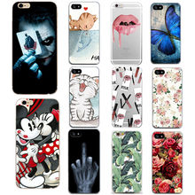 Luxury Flower Case For iPhone 7 8 Plus 6 s 6s Cartoon Minnie Soft Silicon TPU Back Cover For iPhone X 10 5s 5 s SE Fundas Coque(China)