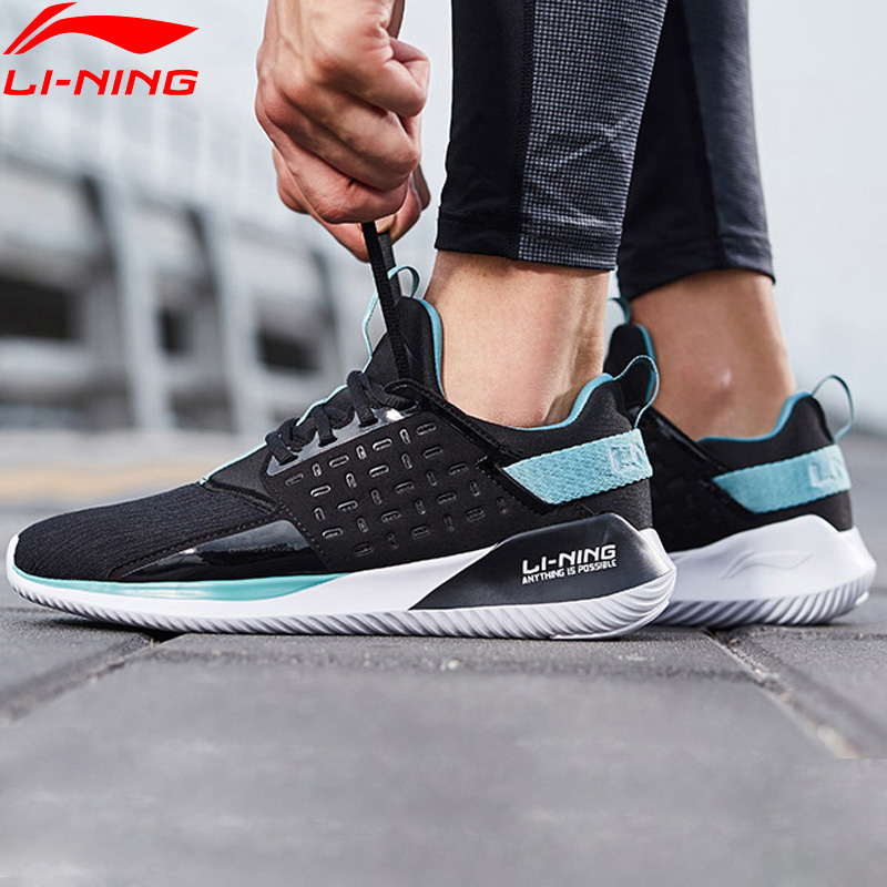 Li Ning Men COLOR ZONE Cushion Running Shoes Light Weight Breathable LiNing Sport Shoes Fitness Sneakers