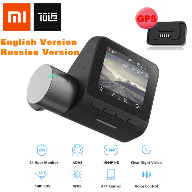XIAOMI 70mai Dash Cam Pro 1944P Car DVR Camera IMX335 140 Degree FOV 64GB DVR English Version RU Version GPS Module OptionalXIAOMI 70mai Dash Cam Pro 1944P Car DVR Camera IMX335 140 Degree FOV 64GB DVR English Version RU Version GPS Module Optional