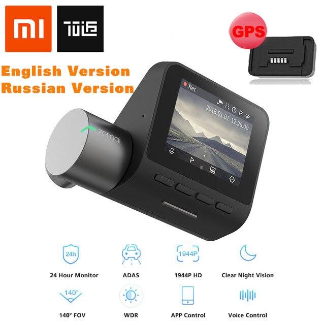 XIAOMI 70mai Dash Cam Pro 1944P voiture DVR caméra IMX335 140 degrés FOV 64GB DVR Version anglaise RU Version Module GPS en option