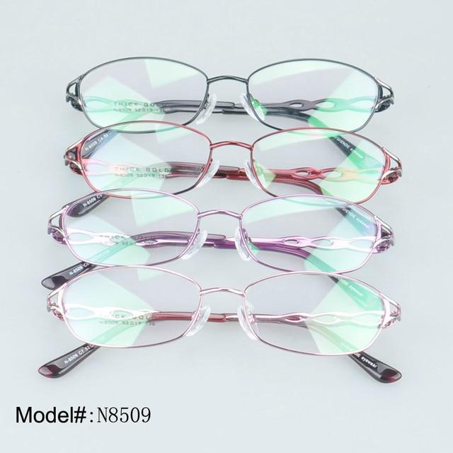 8509 woman's designer full rim metal crystal optical frames myopia glasses prescription spectacles hyperopia eyewear