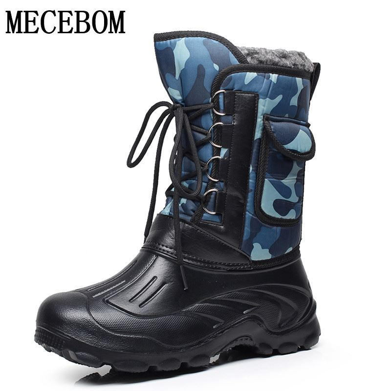 Buy men winter waterproof snow boots for Waterproof fishing boots