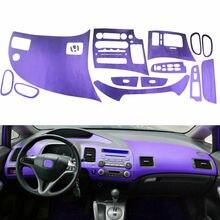 BBQ@ FUKA фиолетовая Автомобильная консоль приборная панель AC вентиляционная панель наклейка интерьерные защитные наклейки для Honda Civic 2006-2011 Автомобильные Чехлы