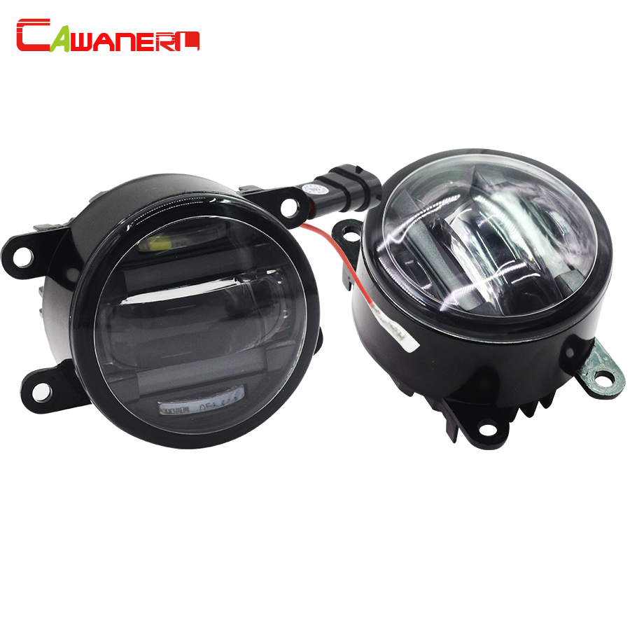 Cawanerl 2 X Car Styling Right + Left LED Fog Light Daytime Running Lamp DRL For Suzuki Grand Vitara Alto Jimny FJ SX4 Swift cawanerl 1 pair car styling led light fog lamp daytime running light drl dc 12v for suzuki alto grand vitara jimny sx4 splash