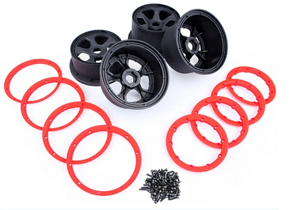 plastic Four generation wheel hub and rim kit for 1 5 hpi baja 5b rc car