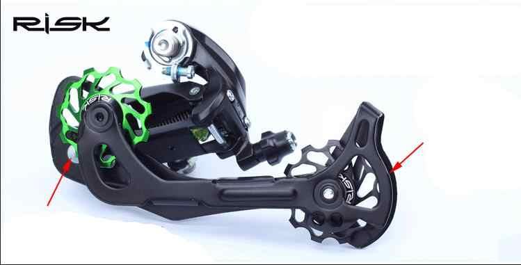 Polia de bicicleta traseira mtb de 41mm, polia de cerâmica para bicicleta de estrada de 1 peça, guia de ciclismo, rolamento de cerâmica, jockey para bicicleta de estrada mtb