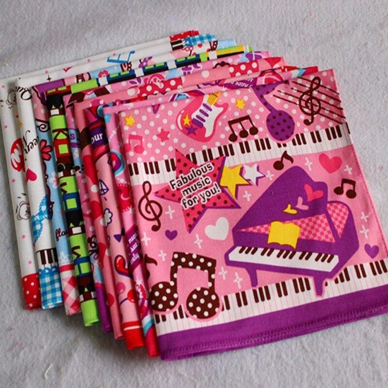 Children's Handkerchief Cotton 100% Pocket Towel Handcuffs Child Handkerchiefs 5Pcs/Lot 42CM