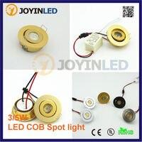 New Điều Chỉnh Nhỏ Led Spot Light 3 Wát Vàng/bạc/white/Black Mini Downlight Cho Tường Nền