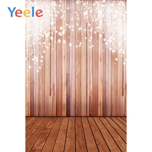 Yeele Glitter Light Bokeh Wooden Boards Wall Baby Scene Photography Background Photographic Backdrop Doll Props For Photo Studio glitter bokeh christmas photography background pet baby photo props party wall decoration brown backdrop xt 5667