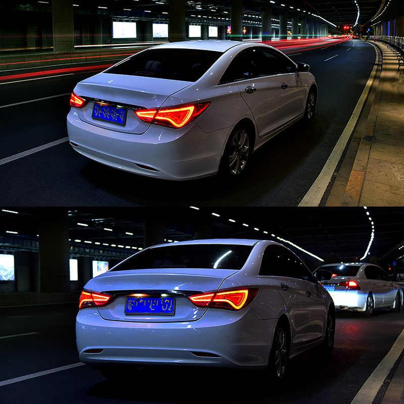Led Tail Lamp For Hyundai Sonata 2011 2012 2013 2014 2015 2016 Red Smoked Black Led Tail Light Turning Signal And Brake Light