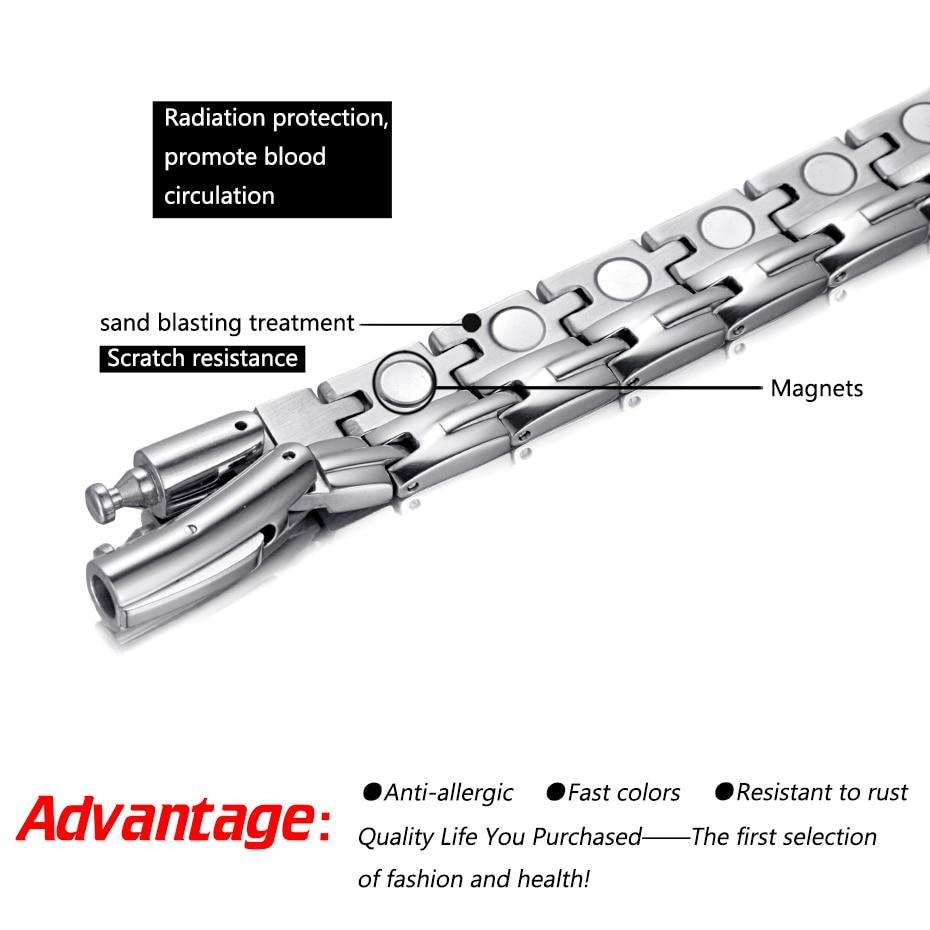 HTB102DJhDCWBKNjSZFtq6yC3FXa5 - Necklace Stainless Steel Health Magnetic Therapy Hematite Power