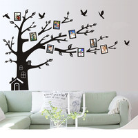 CaCar New Large 180cmx250cm 72 X 99 Wall Art Sticker Family Photo Frame Tree Wall Decal