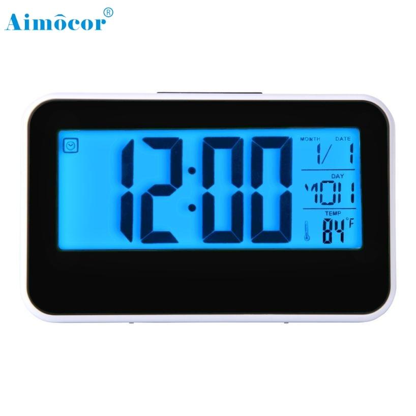 Alarm Clock Simple creative student electronic clock mute bedside alarm LED multifunction clock smart clocks Luminous