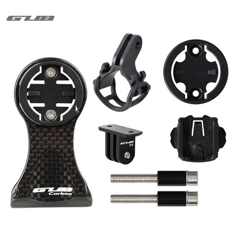 15g Carbon Fiber Bicycle Computer Mount Bike Stem Extender Handlebar Torch Holder Cycling Camera Mount For Garmin Bryton Cateye 6000lumens bike bicycle light cree xml t6 led flashlight torch mount holder warning rear flash light