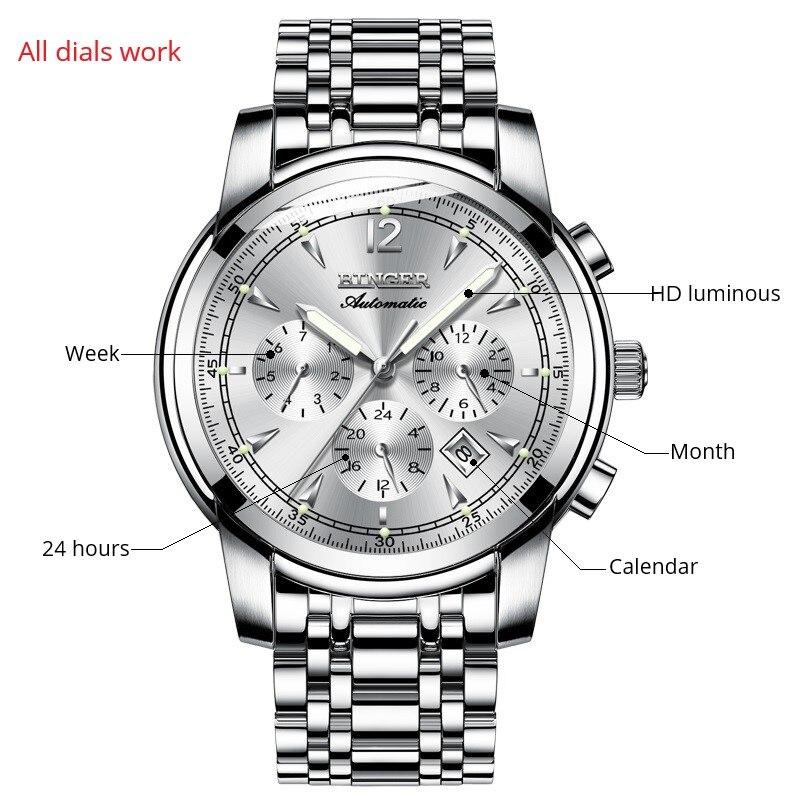 다기능 기계식 시계 남자 스위스 binger 하이 엔드 시계 자동 달력 주 달 사파이어 방수-에서기계식 시계부터 시계 의  그룹 2