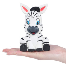 лучшая цена New Jumbo Cute Zebra Squishy Slow Rising Bread Cake Scented Soft Squeeze Toy Stress Relief for Funny Xmas Kids Gift 13*8CM