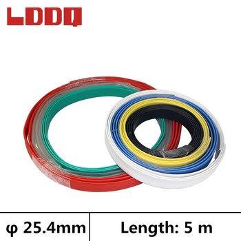 Ldq 5 M Tubo termorretráctil con pegamento 3:1 Dia 25,4mm Tubo retráctil impermeable Cable eléctrico envoltura manga makaron kablo