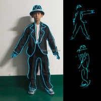 EL traje luminoso de la ropa trajes LED para la fiesta de cumpleaños de los niños decoraciones de la actuación del escenario de los niños