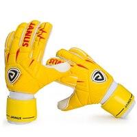 Men Women Goalkeeper Gloves Thicken Latex Pvc Soccer Football Gloves 5 Finger Save Guard Can Be Removed Goalie Gloves Removable