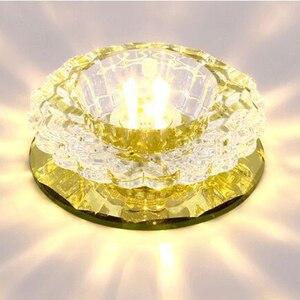 Image 3 - LAIMAIK kryształowe oświetlenie sufitowe 3W oświetlenie halowe AC90 260V lampka na ganek kryształowa lampa ledowa dynia LED sufitowe przejście światła korytarz