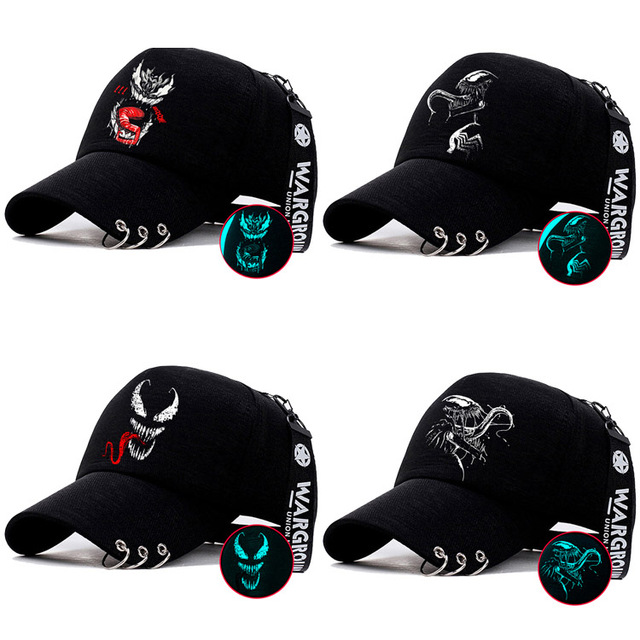 2018 Movie Venom Eddie Edward Brock Logo Cosplay Hats Adjustable