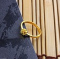 Fashion Genuine Solid 999 24K Yellow Gold / Perfect Design Ring / 2.3g
