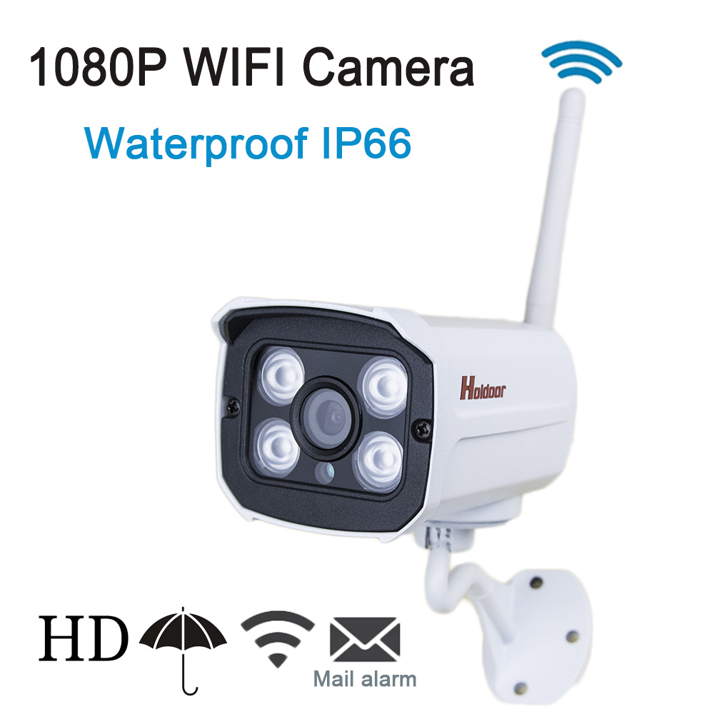 ФОТО 1080P IP WIFI Camera Onvif 2.0.4 wifi IP Cam P2P Wireless Night Vision  Outdoor IP66 Waterproof Metal Plastic CCTV Home Security