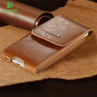 FLOVEME Luxury Genuine Leather Cases For IPhone 6 Plus 6S Plus Case With Clip Belt Brand