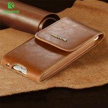 FLOVEME Роскошные 5.5 »Genuine Leather Case For Iphone 6 Plus 6s плюс 7 Плюс Случаях с Зажим для Ремня Полный Защитный Мобильного Телефона Чехол