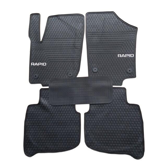 Special rubber car floor mats for Skoda Fabia Rapid Yeti durable