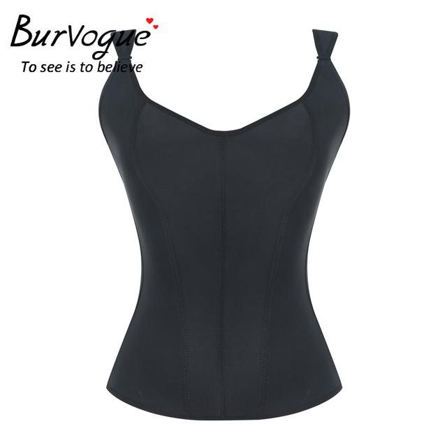 Burvogue nuevas mujeres látex 7 deshuesado acero overbust corsé que adelgaza faja corset bustier de cintura de corsé plus fajas de control