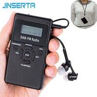 JINSERTA Draagbare DAB +/FM RDS Radio Pocket Digitale DAB Radio Ontvanger met Oplaadbare Batterij & Oortelefoon