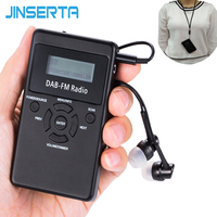 JINSERTA Portable DAB+ / FM RDS Radio Pocket Digital DAB Radio Receiver with Rechargeable Battery & Earphone