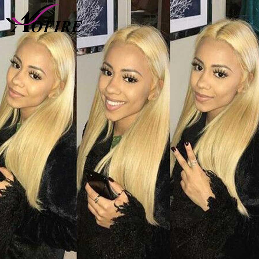 Парик блонд 613 предварительно сорвал Китайский девственницы полный наращивание волос 8-24 кружева передние человеческие волосы парики с волосами младенца для черных женщин