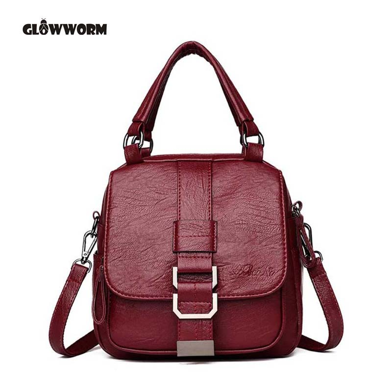 Multifunctio Women Backpacks Leather Female Travel Shoulder Bag Backpack High Quality Women Bag School Bag Backpack Girl Mochila