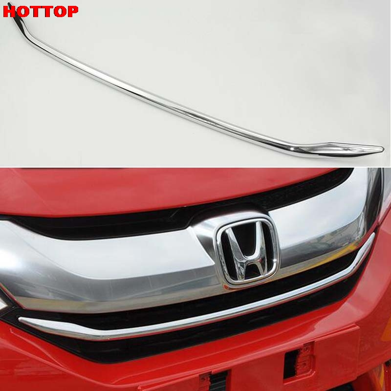 front center grille grill strip trim For Honda City 2014 2015 2016 1pcs  silver RED blue Cover Trim Decor ABS