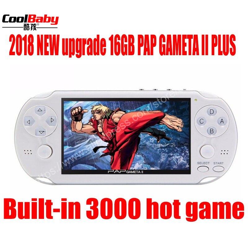 Portable Spielkonsolen Ernst 2018 Upgrade Pap Ii Plus 4,3 handheld-spiel-spieler 64bit Pap Gameta 16 Gb Pmp Psp Eingebaute 10000 Mp4 Mp5 Video Spielkonsolen Gutes Renommee Auf Der Ganzen Welt