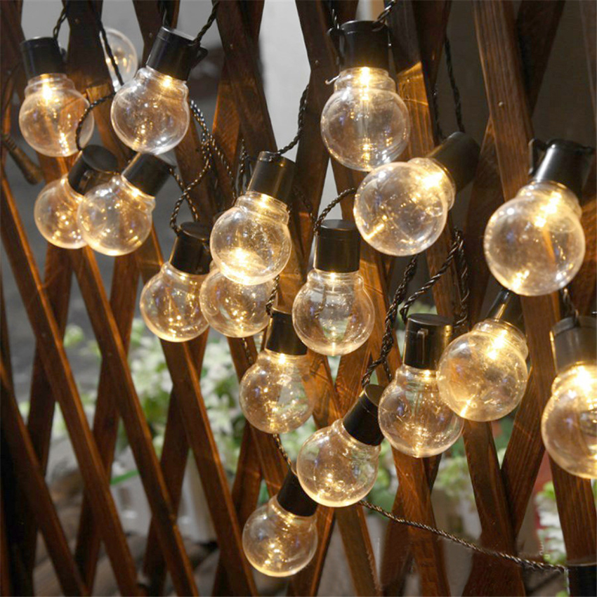 10/20Leds 5CM Vintage Globe Bulb LED String Lights Battery Operated Holiday Christmas Fairy Lights Indoor/Outdoor Hanging Lights