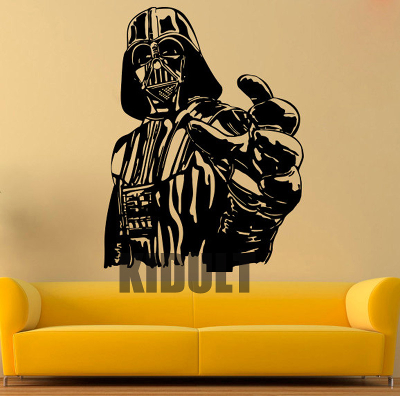 Creative Wall Decals Vinyl Stickers Darth Vader Star Wars Character ...