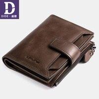 DIDE Genuine Leather Men S Purses Wallets Male Wallet Brand Vintage Mini Small Zipper Coin Purse