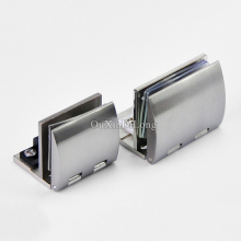 Express Shipping ! High Quality 50PCS Glass Cabinet Hinges Wine Display Door Hinge Clamp