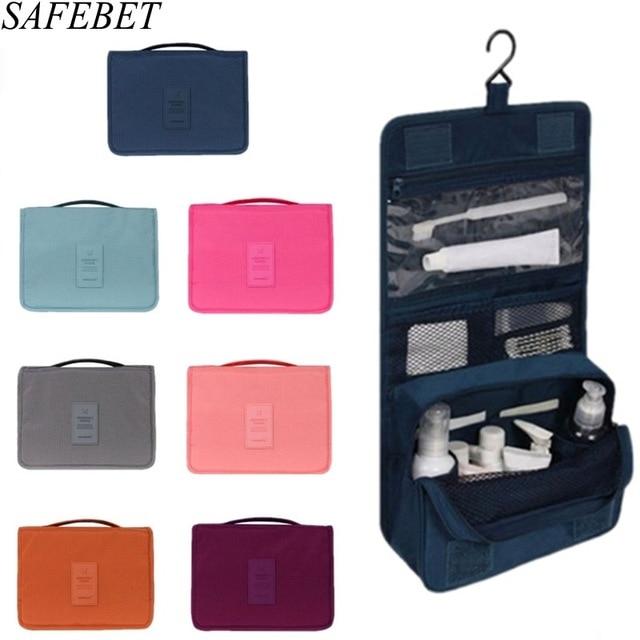 Safebet Brand Women Men Travel Cosmetic Bags Waterproof Nylon Large Beauty Bag Personal Hygiene