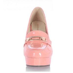 Image 4 - Rizabina 送料無料女性のハイヒールの靴女性のファッションプラットフォームパンプスドレスオフィス女性のセクシーな靴 P11125 サイズ 34 43