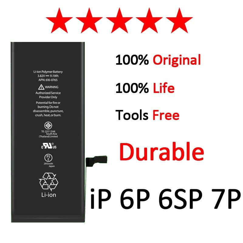 AAAAA qualité Zosol batterie pour iPhone 6 Plus 6 s Plus 7 Plus batterie de remplacement pour iPhone6 Plus iPhone 7 Plus capacité d'origine