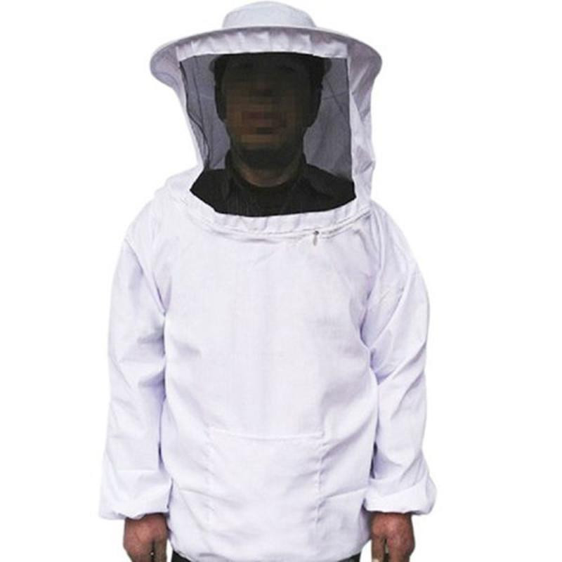 High quality cotton Beekeepers Protective suit zipper Clothing blouse Beekeepers Hat jacket Veil gloves Safe durable white
