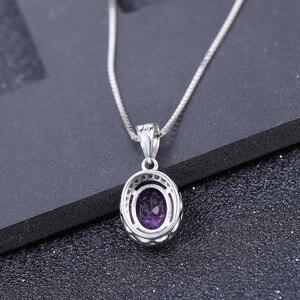 Image 3 - GEMS BALLET collar con colgante de piedras preciosas de amatista Natural para mujer, de plata de ley 925, joyería fina de piedra de nacimiento, 1.79Ct, boda