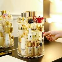 AF Small Rotating Clear Make Up Makeup Holder Organizador De Maquillaje Acrylic Bath Bathroom Makeup Organizer For Cosmetics